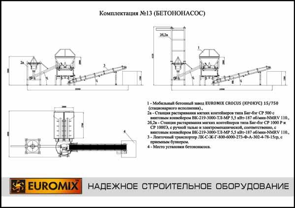 Бетононасос стационарный схема